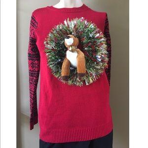 Sweaters - Fun Ugly Reindeer Christmas Sweater